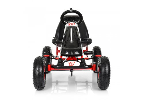 Детский педальный карт на надувных колесах, Bambi M 3590AL-2 черный