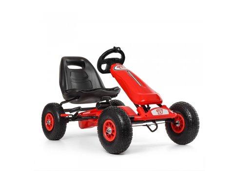 Детский педальный карт на надувных колесах, Bambi M 3590AL-3 красный