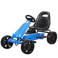 Детский педальный карт на EVA колесах, Bambi M 3590E-4 синий