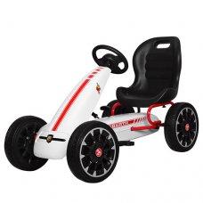 Детский педальный карт на EVA колесах для детей от3-х до 9-ти лет, Bambi M 3659E-1 белый