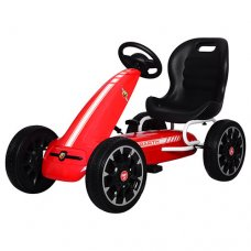 Детский педальный карт на EVA колесах для детей от3-х до 9-ти лет, Bambi M 3659E-3 красный