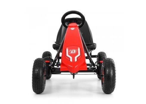 Детский педальный карт на надувных колесах, Bambi M 3856AL-3 красный