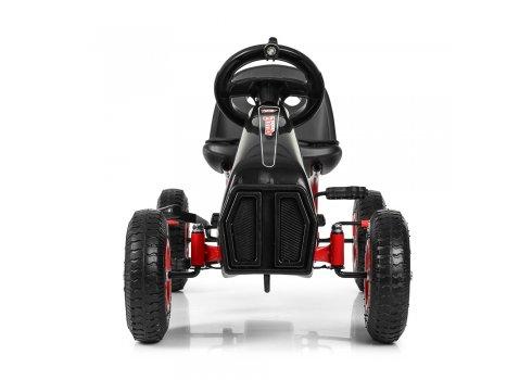 Детский педальный карт на надувных колесах, Bambi M 3857AL-2 черный