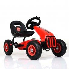 Детский педальный карт на надувных колесах, Bambi M 3857AL-3 красный