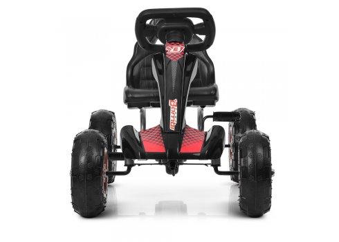 Детский педальный карт (веломобиль) на надувных колесах Bambi M 4036-2 черный