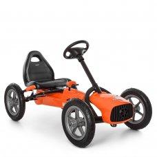 Детский педальный карт на надувных колесах Bambi M 4119-7 оранжевый