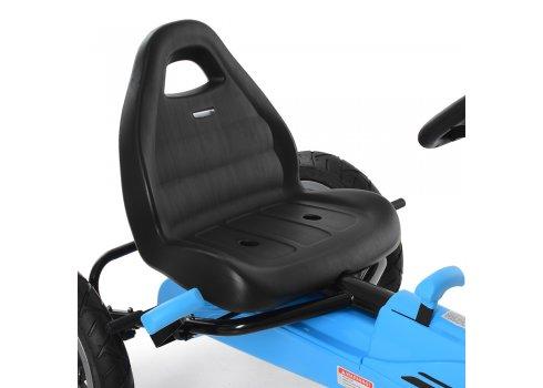 Детский педальный карт на надувных колесах Bambi M 4120-4 синий