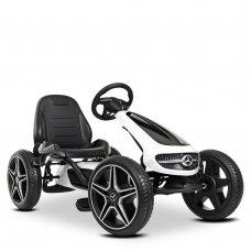 Детский лицензионный педальный веломобиль Mercedes для детей от 3 лет M 4271E-1 белый