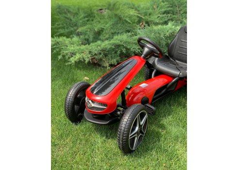 Детский лицензионный педальный веломобиль Mercedes для детей от 3 лет M 4271E-3 красный