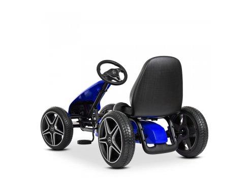 Детский лицензионный педальный веломобиль Mercedes для детей от 3 лет M 4271E-4 синий