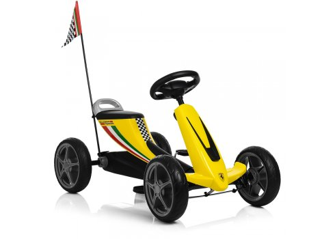 Детский педальный карт на EVA колесах, Bambi 8931E-6 желтый