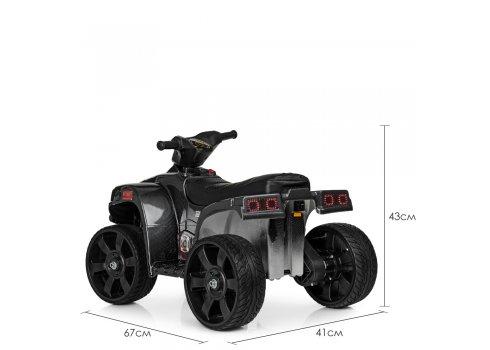 Детский электрический квадроцикл Bambi с кожаным сиденьем M 3893ELM-19 карбон