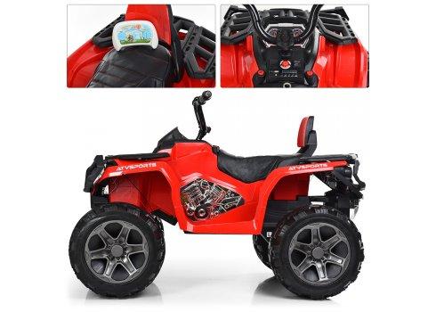 Детский полноприводный квадроцикл на аккумуляторе Bambi M 3999EBLR-3 красный
