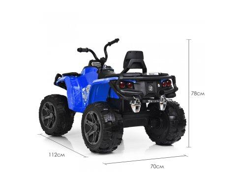 Детский полноприводный квадроцикл на аккумуляторе Bambi M 3999EBLR-4 синий