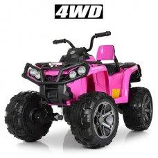 Детский полноприводный квадроцикл на аккумуляторе Bambi M 3999EBLR-8 розовый