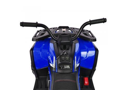 Детский квадроцикл на аккумуляторе с пультом РУ M 4081EBLR-2-4 черно-синий