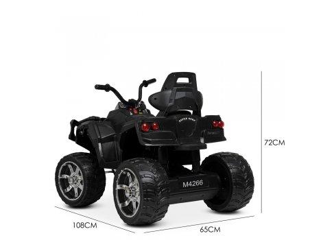 Детский квадроцикл на аккумуляторе с пультом РУ M 4266EBLR-2 черный