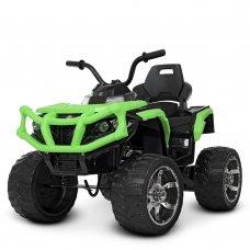 Детский квадроцикл на аккумуляторе с пультом РУ M 4266EBLR-5 зеленый