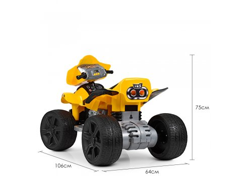 Детский электрический квадроцикл ZP5118E-6 желтый