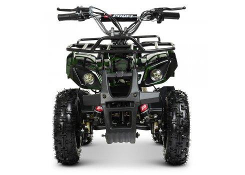Детский квадроцикл электрический, скорость 20 км/час, PROFI HB-EATV800N-10(MP3) V3 зеленый камуфляж