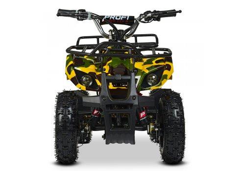Детский квадроцикл электрический, скорость 20 км/час, PROFI HB-EATV800N-13(MP3) V3 желтый камуфляж