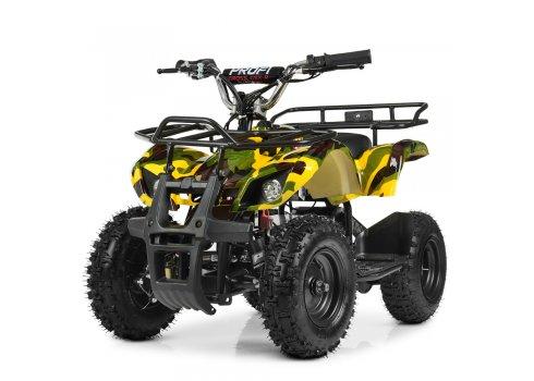 Детский квадроцикл на аккумуляторе, скорость 20 км/час, PROFI HB-EATV800N-13 V3 желтый камуфляж