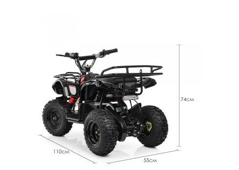 Детский квадроцикл на аккумуляторе, скорость 20 км/час, PROFI HB-EATV800N-2 V3 черный