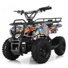 Детский квадроцикл электрический, скорость 20 км/час, PROFI HB-EATV800N-NEW8(MP3) V3 графити