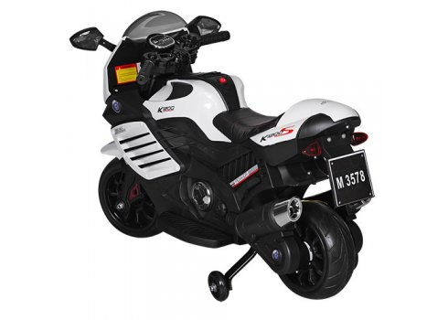 Мотоцикл детский на аккумуляторе BAMBI M 3578EL-1 белый