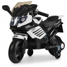Детский двухколесный мотоцикл на аккумуляторе Bambi M 3582EL-1 белый