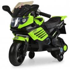 Детский двухколесный мотоцикл на аккумуляторе Bambi M 3582EL-5 зеленый