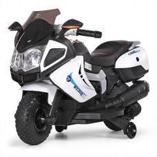 Детский мотоцикл BMW на мягких EVA колесах Bambi M 3625EL-1 белый