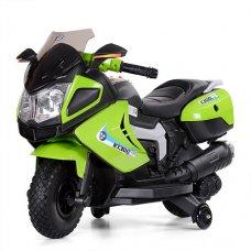 Детский мотоцикл BMW на мягких EVA колесах Bambi M 3625EL-5 зеленый
