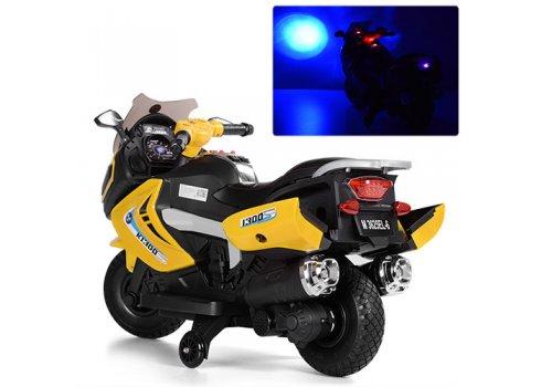 Детский мотоцикл BMW на мягких EVA колесах Bambi M 3625EL-6 желтый