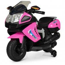 Детский мотоцикл BMW на мягких EVA колесах Bambi M 3625EL-8 розовый