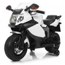 Детский двухколесный электрический мотоцикл Bambi M 3636EL-1 белый