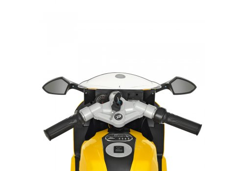 Детский двухколесный электрический мотоцикл Bambi M 3636EL-6 желтый