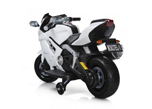 Детский электрический мотоцикл Lamborghini Bambi M 3637EL-1 белый