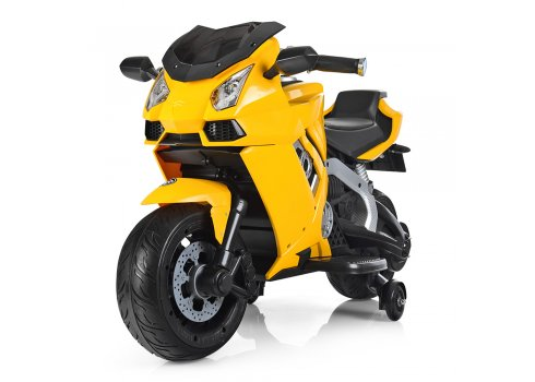 Детский электрический мотоцикл Lamborghini Bambi M 3637EL-6 желтый