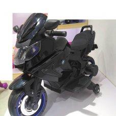 Детский двухколесный мотоцикл BMW с резиновыми колесами M 3681AL-2 черный