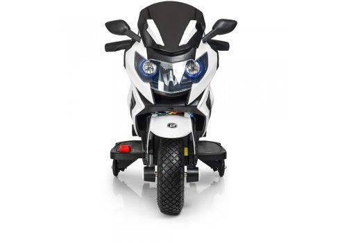 Детский двухколесный мотоцикл BMW с резиновыми колесами M 3681AL-1 белый