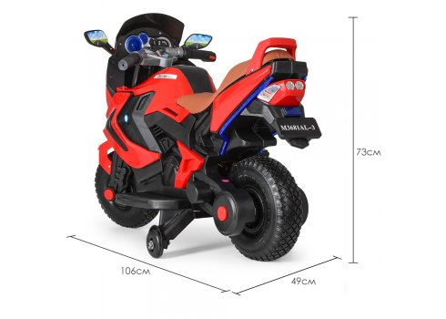 Детский двухколесный мотоцикл BMW с резиновыми колесами M 3681AL-3 красный
