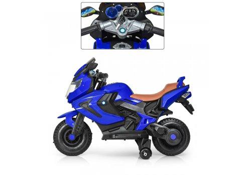 Детский двухколесный мотоцикл BMW с резиновыми колесами M 3681AL-4 синий