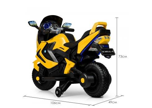Детский двухколесный мотоцикл BMW с резиновыми колесами M 3681AL-6 желтый
