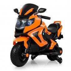 Детский двухколесный мотоцикл BMW с резиновыми колесами M 3681AL-7 оранжевый