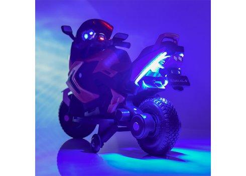 Детский двухколесный мотоцикл BMW с резиновыми колесами M 3681ALS-2 черный автопокраска