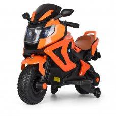 Детский двухколесный мотоцикл BMW с резиновыми колесами M 3681ALS-7 оранжевый автопокраска