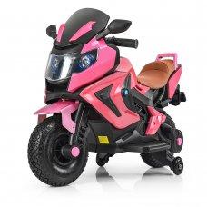 Детский двухколесный мотоцикл BMW с резиновыми колесами M 3681ALS-8 розовый автопокраска