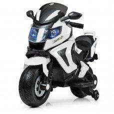 Детский двухколесный мотоцикл BMW с мягкими EVA колесами M 3681EL-1 белый
