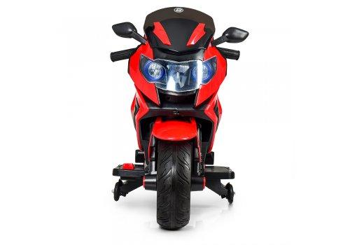 Детский двухколесный мотоцикл BMW с мягкими EVA колесами M 3681EL-3 красный